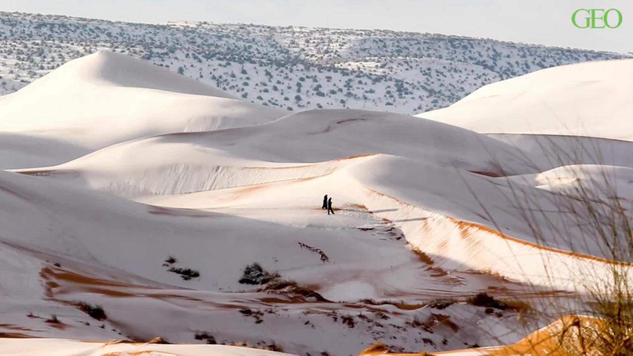 Schnee In Der Sahara Wüste Wird Zum Winterparadies Geo